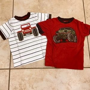 Lot of two Gymboree 3T Jeep & Monster Truck Tees